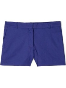 Bonnie Linen Stretch Shorts - pattern: plain; style: shorts; length: short shorts; waist: mid/regular rise; predominant colour: navy; occasions: casual, holiday; fibres: linen - mix; fit: slim leg; pattern type: fabric; texture group: other - light to midweight