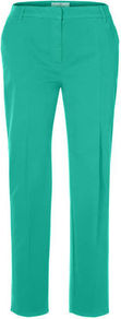 Chino Trousers - pattern: plain; pocket detail: small back pockets, pockets at the sides; waist: mid/regular rise; predominant colour: mint green; occasions: casual, evening, work, holiday; length: ankle length; style: chino; fibres: cotton - stretch; texture group: cotton feel fabrics; fit: straight leg; pattern type: fabric