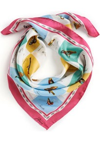 Aviary Womens Silk Scarf Multi - occasions: casual; predominant colour: multicoloured; type of pattern: standard; style: square; size: large; material: silk; pattern: patterned/print