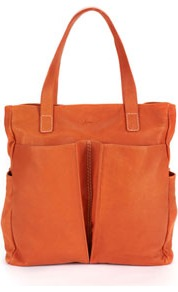 Richmond Womens Leather Bag Dkorang - predominant colour: bright orange; occasions: casual; style: tote; length: handle; size: standard; material: leather; pattern: plain; finish: plain