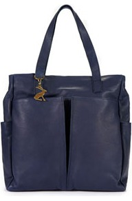 Richmond Womens Leather Bag Navy - predominant colour: navy; occasions: casual, evening, work; type of pattern: standard; style: tote; length: handle; size: standard; material: leather; pattern: plain; finish: plain