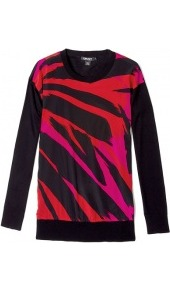 Silk Cashmere Crew Neck Jumper - neckline: round neck; style: standard; back detail: contrast pattern/fabric at back; predominant colour: black; occasions: casual, evening, work; length: standard; fibres: silk - mix; fit: standard fit; sleeve length: long sleeve; sleeve style: standard; texture group: crepes; trends: statement prints, fluorescent, modern geometrics; pattern type: fabric; pattern size: standard; pattern: patterned/print