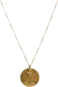 Love Is Blind Glitter Necklace - predominant colour: gold; occasions: casual, evening, work; style: pendant; length: long; size: standard; material: chain/metal; trends: metallics; finish: metallic; embellishment: chain/metal, glitter