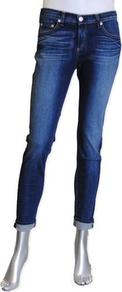 Dash Slouchy Skinny In Preston - style: skinny leg; pattern: plain; pocket detail: traditional 5 pocket; waist: mid/regular rise; predominant colour: navy; occasions: casual; length: ankle length; fibres: cotton - mix; jeans detail: whiskering, shading down centre of thigh, dark wash; jeans & bottoms detail: turn ups; texture group: denim; pattern type: fabric