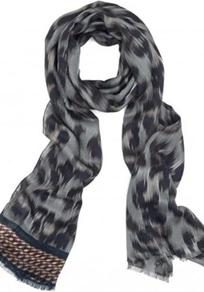 Leopard Scarf In Black Gold - secondary colour: charcoal; predominant colour: black; occasions: casual, evening, work; type of pattern: large; style: regular; size: standard; material: fabric; pattern: animal print; trends: statement prints