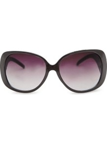 Retro Maxi Sunglasses - predominant colour: black; occasions: casual, holiday; style: square; size: large; material: plastic/rubber; pattern: plain; finish: plain