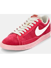 Blazer Low Trainers, Red - predominant colour: true red; occasions: casual; material: suede; heel height: flat; toe: round toe; style: trainers; trends: sporty redux; finish: plain; pattern: plain
