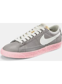Blazer Low Trainers, Grey - predominant colour: mid grey; occasions: casual; material: fabric; heel height: flat; toe: round toe; style: trainers; trends: sporty redux; finish: plain; pattern: plain