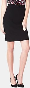 Panel Pencil Skirt, Black - length: mid thigh; pattern: plain; style: pencil; waist: mid/regular rise; predominant colour: black; occasions: casual, evening, work; fibres: polyester/polyamide - stretch; fit: straight cut; pattern type: fabric; texture group: other - light to midweight