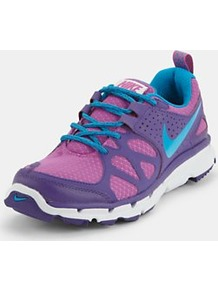 Flex Trail Trainers, Purple - predominant colour: purple; occasions: casual; material: fabric; heel height: flat; toe: round toe; style: trainers; trends: sporty redux; finish: plain; pattern: patterned/print, colourblock