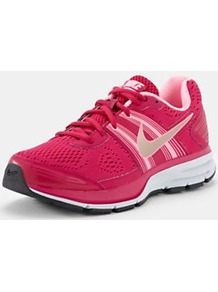 Air Pegasus 29 Trainers, Pink - predominant colour: hot pink; occasions: casual; material: fabric; heel height: flat; toe: round toe; style: trainers; finish: plain; pattern: patterned/print, plain