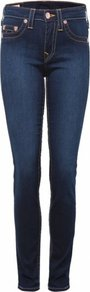 Blue Halle Dark Wash Jeans Uk - style: skinny leg; length: standard; pattern: plain; pocket detail: traditional 5 pocket; waist: mid/regular rise; predominant colour: navy; occasions: casual; fibres: cotton - stretch; jeans detail: shading down centre of thigh; texture group: denim; pattern type: fabric