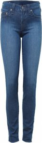 Blue Halle Wash Jeans Uk - style: skinny leg; length: standard; pattern: plain; pocket detail: traditional 5 pocket; waist: mid/regular rise; predominant colour: navy; occasions: casual; fibres: cotton - mix; jeans detail: shading down centre of thigh; texture group: denim; pattern type: fabric