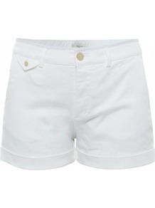 White Cotton Shorts Uk - pattern: plain; style: shorts; length: short shorts; waist: mid/regular rise; predominant colour: white; occasions: casual, holiday; fibres: cotton - stretch; jeans & bottoms detail: turn ups; texture group: cotton feel fabrics; fit: slim leg; pattern type: fabric