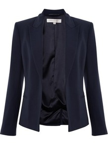 Classic Ruth Fitted Jacket - pattern: plain; style: single breasted blazer; collar: standard lapel/rever collar; predominant colour: navy; occasions: casual, work; length: standard; fit: tailored/fitted; fibres: polyester/polyamide - stretch; sleeve length: long sleeve; sleeve style: standard; collar break: low/open; pattern type: fabric; texture group: woven light midweight