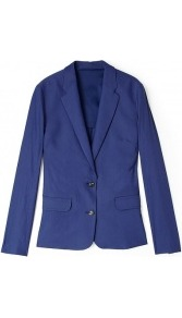 Cindy Linen Stretch Blazer - pattern: plain; style: single breasted blazer; hip detail: front pockets at hip; collar: standard lapel/rever collar; predominant colour: royal blue; occasions: casual, evening, work; length: standard; fit: tailored/fitted; fibres: linen - mix; waist detail: fitted waist; sleeve length: long sleeve; sleeve style: standard; texture group: linen; collar break: low/open; pattern type: fabric