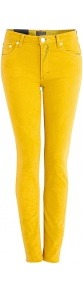 Overdyed Yellow Flex Mid Rise Slim Leg Jeans - style: skinny leg; length: standard; pattern: plain; pocket detail: traditional 5 pocket; waist: mid/regular rise; predominant colour: mustard; occasions: casual; fibres: cotton - stretch; texture group: denim; trends: fluorescent; pattern type: fabric