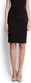 Snake Skin Textured Skirt - pattern: plain; style: pencil; fit: tailored/fitted; waist: mid/regular rise; predominant colour: black; occasions: casual, evening, work; length: just above the knee; fibres: cotton - 100%; texture group: cotton feel fabrics; pattern type: fabric