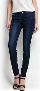 Strass Super Slim Jeans - style: skinny leg; length: standard; pattern: plain; pocket detail: traditional 5 pocket; waist: mid/regular rise; predominant colour: navy; occasions: casual, evening, work; fibres: cotton - stretch; jeans detail: dark wash; texture group: denim; pattern type: fabric; embellishment: crystals