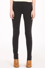 Jessie Jegging - length: standard; pattern: plain; pocket detail: traditional 5 pocket; waist: mid/regular rise; predominant colour: black; occasions: casual, evening, work; fibres: cotton - stretch; texture group: denim; fit: skinny/tight leg; pattern type: fabric; style: standard