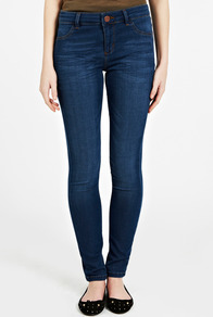 Mid Wash Jade Lightweight Skinny Jean - length: standard; pattern: plain; pocket detail: traditional 5 pocket; waist: mid/regular rise; predominant colour: navy; occasions: casual, evening; fibres: cotton - stretch; texture group: denim; fit: skinny/tight leg; pattern type: fabric; style: standard