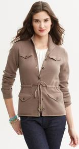 Heritage Cashmere Tie Front Cardigan - pattern: plain; neckline: high neck; hip detail: front pockets at hip; bust detail: pocket detail at bust; predominant colour: taupe; occasions: casual, work; length: standard; style: standard; fit: standard fit; waist detail: belted waist/tie at waist/drawstring; fibres: cashmere - 100%; sleeve length: long sleeve; sleeve style: standard; texture group: knits/crochet; pattern type: knitted - fine stitch