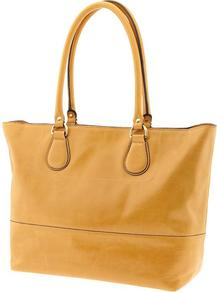 Joanna Tote - predominant colour: yellow; occasions: casual, work; style: tote; length: handle; size: oversized; material: leather; pattern: plain; finish: plain