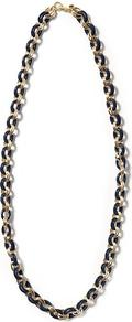 Link Necklace - predominant colour: navy; occasions: casual, evening, work, holiday; style: standard; length: mid; size: standard; material: chain/metal; trends: metallics; finish: metallic; embellishment: chain/metal