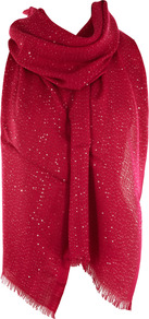 Shimmer Sequin Wrap - predominant colour: hot pink; occasions: casual, evening, work, occasion; type of pattern: light; style: wrap; size: large; material: fabric; embellishment: sequins; pattern: plain