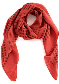 Outlet Spot Design Summer Scarf Multi - predominant colour: bright orange; occasions: casual, evening, work, holiday; type of pattern: heavy; style: regular; size: standard; material: fabric; pattern: polka dot