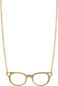 Klassy Shop Necklace - predominant colour: gold; occasions: casual, evening, holiday; style: pendant; length: mid; size: large/oversized; material: chain/metal; finish: metallic; embellishment: chain/metal