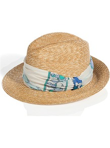 Natural Multi Straw Fedora - secondary colour: white; predominant colour: nude; occasions: casual, holiday; type of pattern: small; style: fedora; size: standard; material: macrame/raffia/straw; embellishment: ribbon; pattern: plain