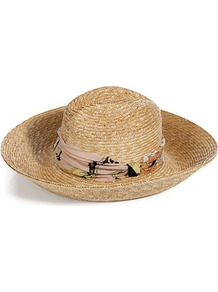 Natural/Blush Straw Hat - predominant colour: nude; occasions: casual, holiday; type of pattern: small; style: wide brimmed; size: standard; material: macrame/raffia/straw; embellishment: ribbon; pattern: plain