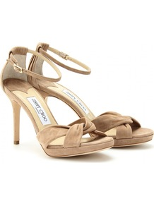 Marion Suede Sandals - predominant colour: nude; occasions: evening, occasion, holiday; material: suede; heel height: high; ankle detail: ankle strap; heel: stiletto; toe: open toe/peeptoe; style: standard; finish: plain; pattern: plain