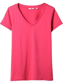 Women Premium Cotton Single Jersey V Neck Short Sleeve T A 15 Red - neckline: v-neck; pattern: plain; style: t-shirt; predominant colour: true red; occasions: casual, holiday; length: standard; fibres: cotton - 100%; fit: straight cut; sleeve length: short sleeve; sleeve style: standard; pattern type: fabric; texture group: jersey - stretchy/drapey