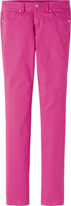 Women Colour Skinny Fit Tapered Jeans 11 Pink - length: standard; pattern: plain; pocket detail: traditional 5 pocket; waist: mid/regular rise; style: tapered; predominant colour: hot pink; occasions: casual, work, holiday; fibres: cotton - mix; texture group: denim; trends: fluorescent; pattern type: fabric