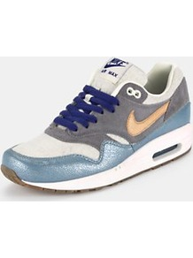 Air Max 1 Nd Trainers, Blue - predominant colour: pale blue; occasions: casual; material: leather; heel height: flat; toe: round toe; style: trainers; trends: sporty redux; finish: plain; pattern: colourblock