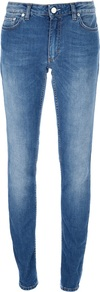 'Flex Montant' Slim Fit Jean - length: standard; pattern: plain; pocket detail: traditional 5 pocket; style: slim leg; waist: mid/regular rise; predominant colour: denim; secondary colour: denim; occasions: casual, evening; fibres: cotton - stretch; jeans detail: whiskering, shading down centre of thigh; texture group: denim; pattern type: fabric