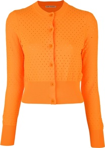 'Fran' Cardigan - pattern: plain; length: cropped; predominant colour: bright orange; occasions: casual; style: standard; fibres: nylon - 100%; fit: slim fit; sleeve length: long sleeve; texture group: knits/crochet; pattern type: knitted - other