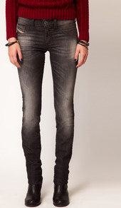 Livier Skinny Jean - style: skinny leg; length: standard; pattern: plain; pocket detail: pockets at the sides, traditional 5 pocket; waist: mid/regular rise; predominant colour: charcoal; occasions: casual, evening; fibres: cotton - stretch; jeans detail: whiskering, shading down centre of thigh, washed/faded; texture group: denim; pattern type: fabric; pattern size: small & light