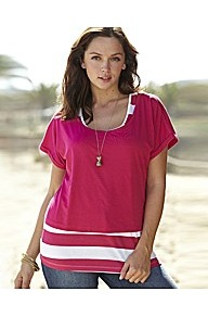 T Shirt And Vest Set - neckline: round neck; pattern: plain; style: t-shirt; predominant colour: hot pink; occasions: casual; length: standard; fibres: cotton - 100%; fit: loose; sleeve length: short sleeve; sleeve style: standard; pattern type: fabric; pattern size: standard; texture group: jersey - stretchy/drapey