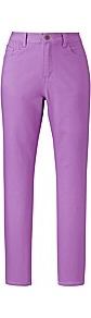 Chloe Ankle Grazer Jeans Length 26in - pattern: plain; pocket detail: traditional 5 pocket; style: slim leg; waist: mid/regular rise; predominant colour: lilac; occasions: casual, evening, holiday; length: ankle length; fibres: cotton - stretch; texture group: denim; pattern type: fabric