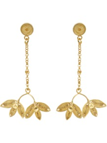 Gloria Earrings - predominant colour: gold; occasions: evening, work, occasion; style: drop; length: long; size: standard; material: chain/metal; fastening: pierced; trends: metallics; finish: metallic