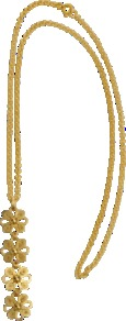 Almudena Necklace - predominant colour: gold; occasions: evening, work, occasion; style: pendant; length: long; size: standard; material: chain/metal; finish: plain; embellishment: chain/metal