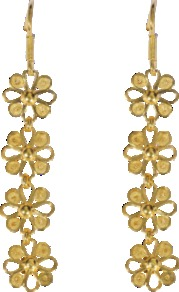 Almudena Earrings - predominant colour: gold; occasions: evening, work, occasion, holiday; style: drop; length: long; size: small; material: chain/metal; fastening: pierced; trends: metallics; finish: plain; embellishment: chain/metal