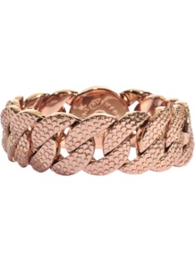 Lizard Texture Bracelet - predominant colour: gold; occasions: casual, evening, work, occasion; style: chain; size: standard; material: chain/metal; trends: metallics; finish: metallic; embellishment: chain/metal