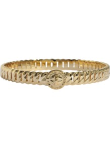 Skinny Turnlock Bangle Bracelet - predominant colour: gold; occasions: casual, evening, work, occasion; style: bangle; size: standard; material: chain/metal; trends: metallics; finish: metallic; embellishment: chain/metal
