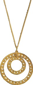 Vermeil Maria Charm Necklace - predominant colour: gold; occasions: casual, evening, work, occasion, holiday; style: pendant; length: mid; size: large/oversized; material: chain/metal; finish: metallic; embellishment: chain/metal