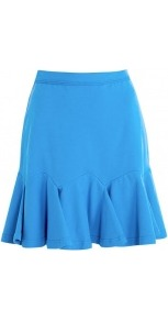 Jersey Flip Skirt - length: mid thigh; pattern: plain; fit: body skimming; waist: high rise; predominant colour: diva blue; occasions: casual, evening; style: mini skirt; fibres: cotton - stretch; pattern type: fabric; texture group: jersey - stretchy/drapey