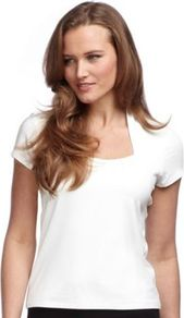 Precis Ivory Shrug Style Jersey Top - sleeve style: raglan; pattern: plain; waist detail: fitted waist; predominant colour: white; occasions: casual, evening, work; length: standard; style: top; fibres: polyester/polyamide - stretch; fit: straight cut; sleeve length: short sleeve; texture group: jersey - clingy; neckline: medium square neck; pattern type: fabric
